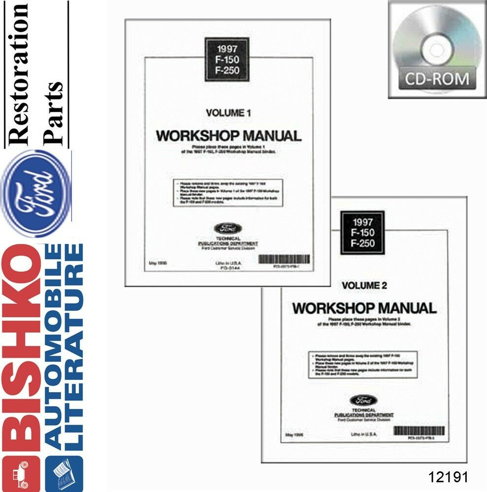 1997 Ford F150-F250 (No Diesel) Truck Shop Service Repair Manual CD Engine  OEM | eBay