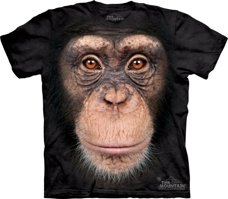 The Mountain Chimp Face Monkey Ape Forest T Shirt Ebay