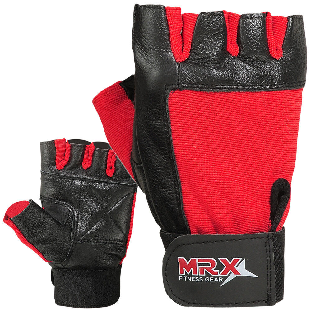 Reebok Strength Training Gloves Weight Lifting Fitness: Weight Lifting Gloves Leather Gym Training Fitness Glove