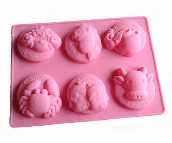 Cake Mold, Soap Mold Zodiac Design Mold Silicone Mould For ...