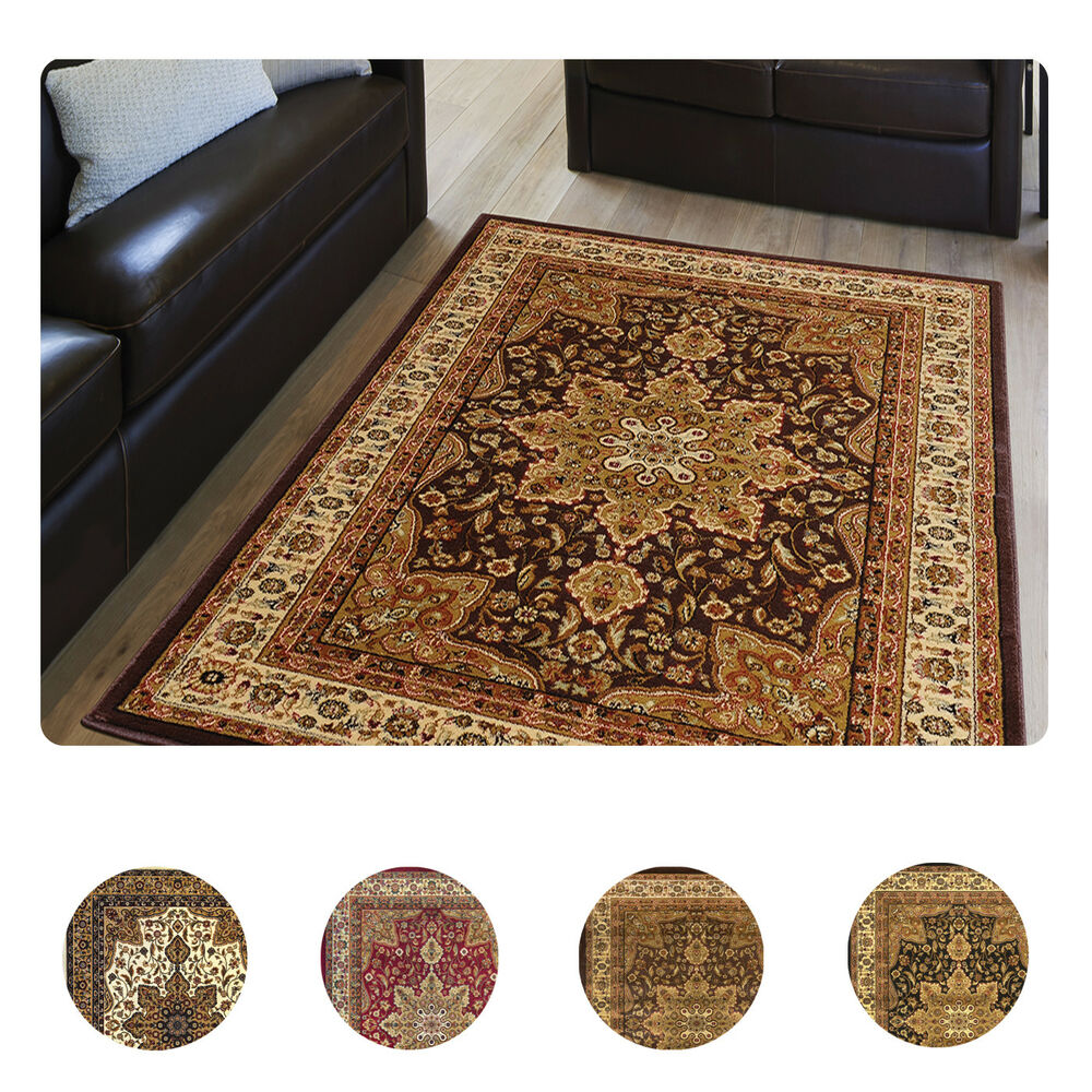 Throw Rugs Ebay: Large Medallion 8 X 11 Persian Area Rug Border Carpet