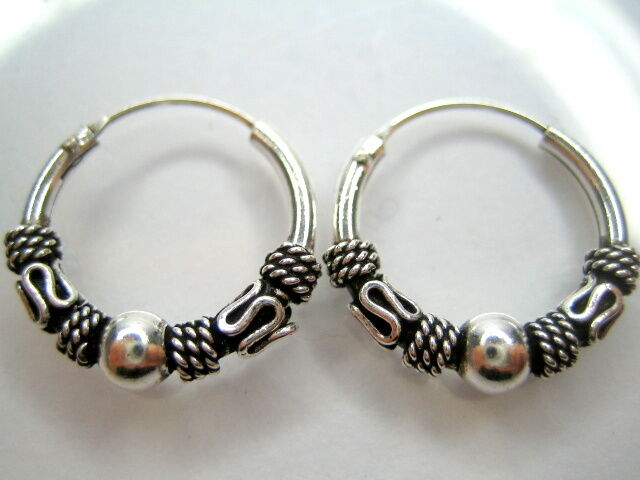 mens sterling silver hoop earrings bali mens 925 sterling silver hoop earrings 1 2 quot ebay 6265