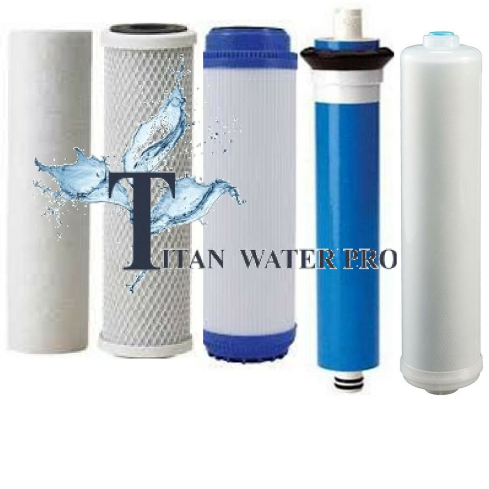 REVERSE OSMOSIS RO 5 FILTERS/MEMBRANE REPLACEMENT SET ...