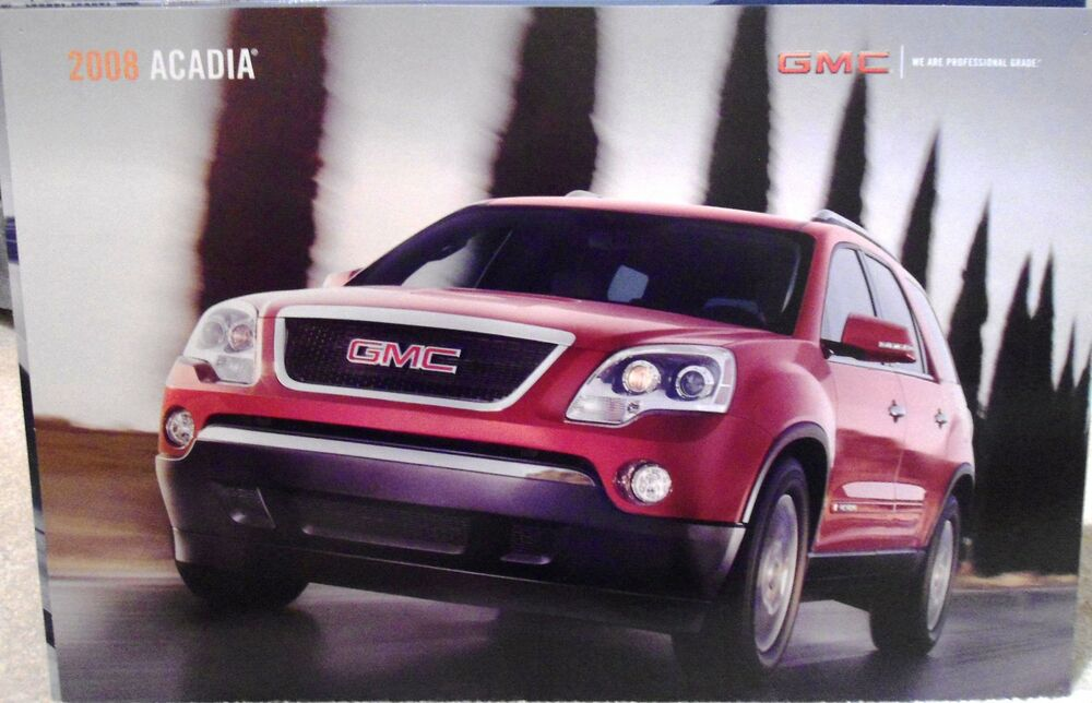 2008 General Motors Gmc Acadia Auto Poster Or Vehicle