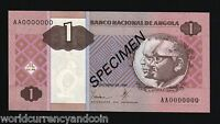 ANGOLA 1 KWANZA P143 1999 *SPECIMEN* WOMAN IN FIELD UNC AFRICA PORTUGAL CURRENCY