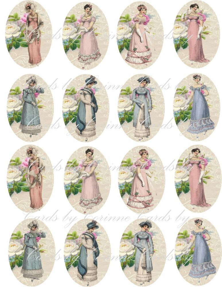 Vintage 16 jane austen stickers regency scrapbooking for Crafts that sell on ebay