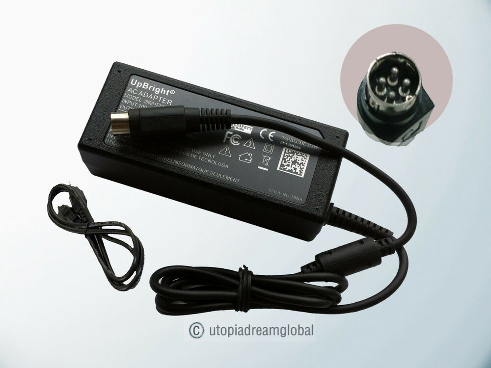 4 Pin 12v Ac Adapter For Rca L1510 Lcd Tv Monitor Power