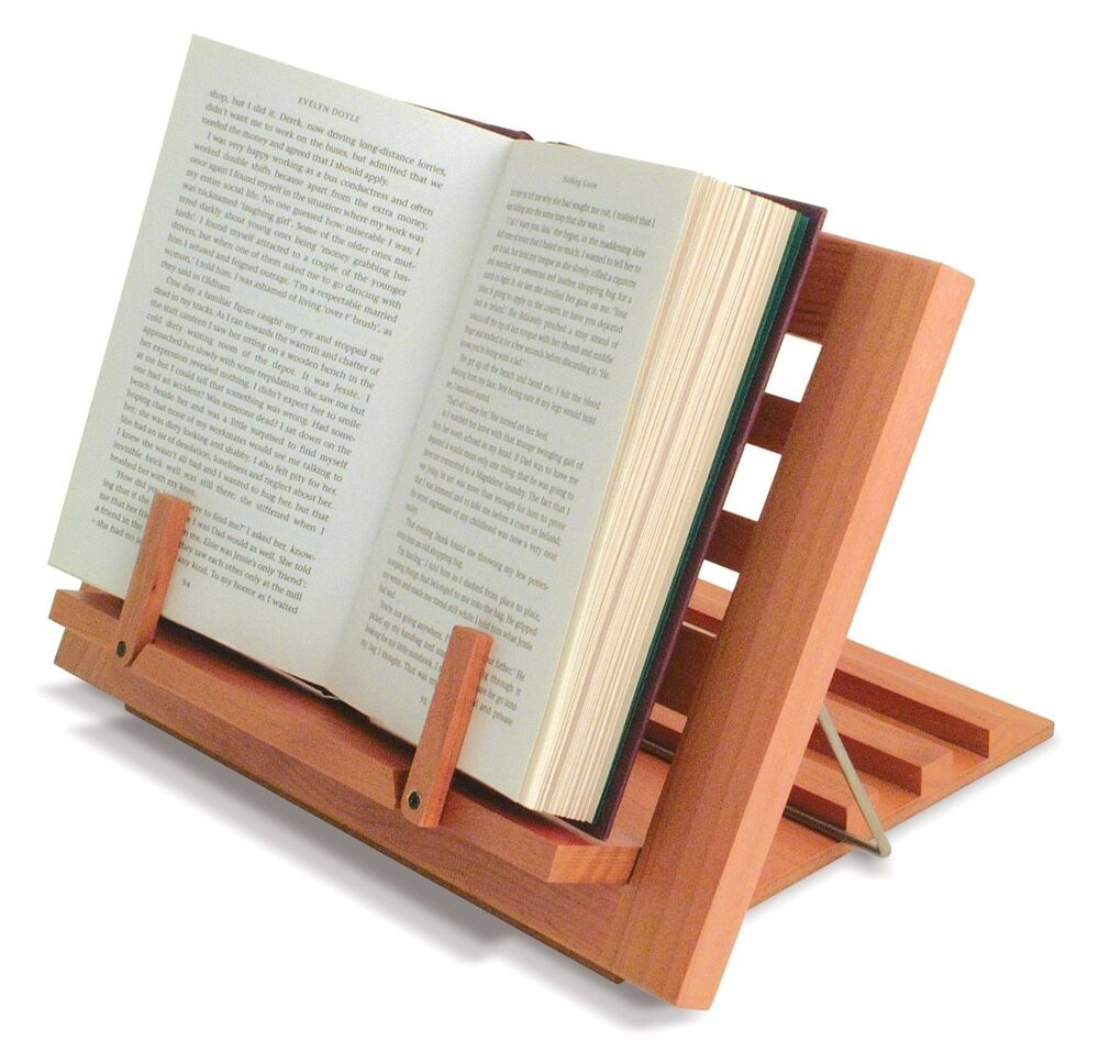wooden reading rest book stand display holder for cookery music books ect ebay. Black Bedroom Furniture Sets. Home Design Ideas