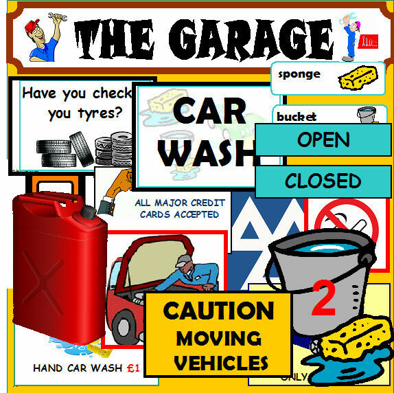 Your 1 Resource For Car: GARAGE CAR WASH Roleplay Teaching Resources Outdoor Play