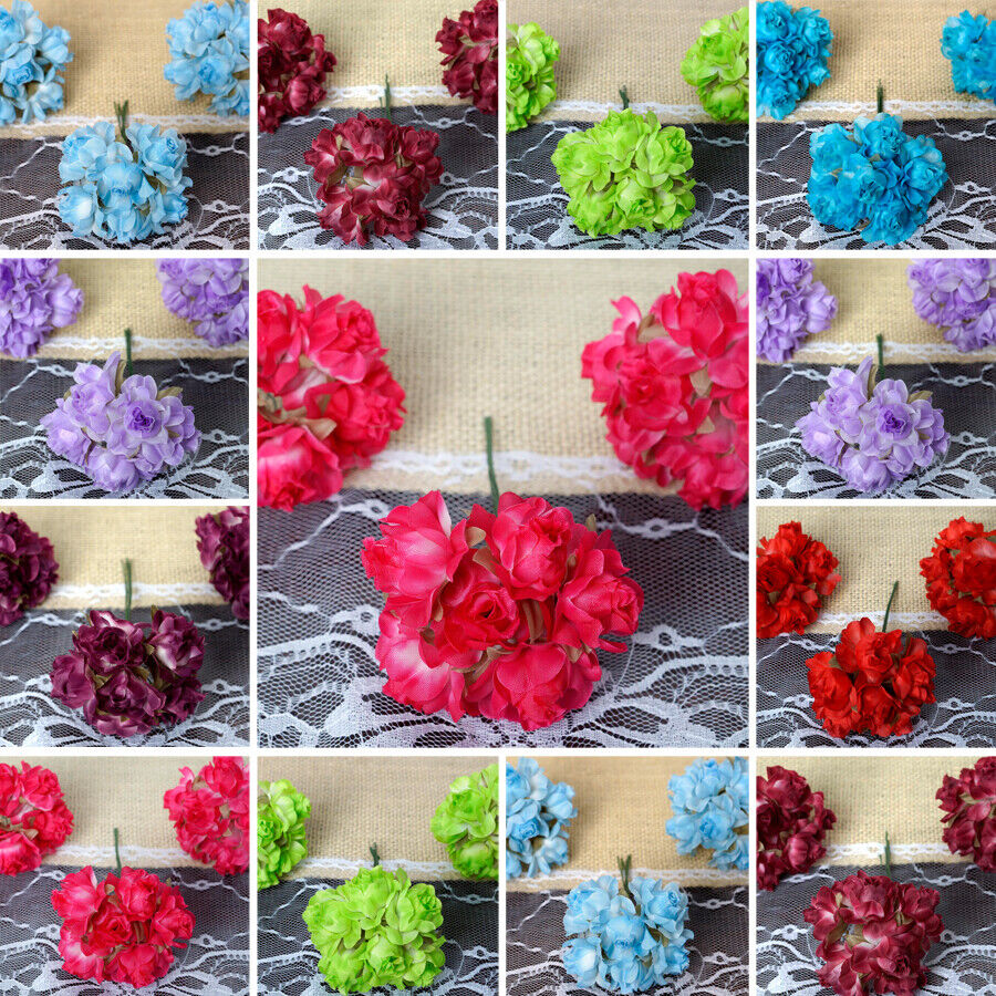 wedding decoration supply 72 semi bloomed craft roses flowers buy wedding favors 9072