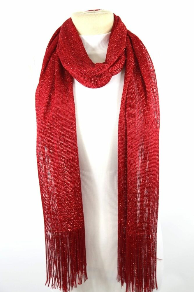 b2 metallic fringe formal evening scarf shawl ebay