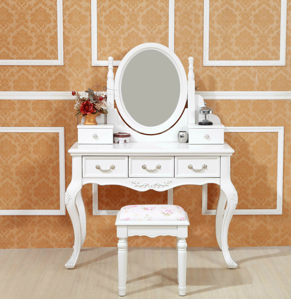 Brand new 5 drawers french provincial dressing table with for Vanity table with drawers no mirror