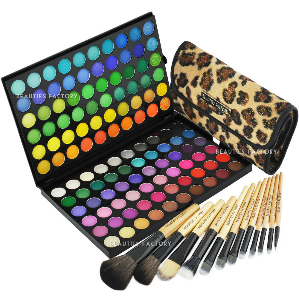 120 Color Eyeshadow Palette U0026 12pcs African Leopard Makeup Brush (89A-177L) | EBay