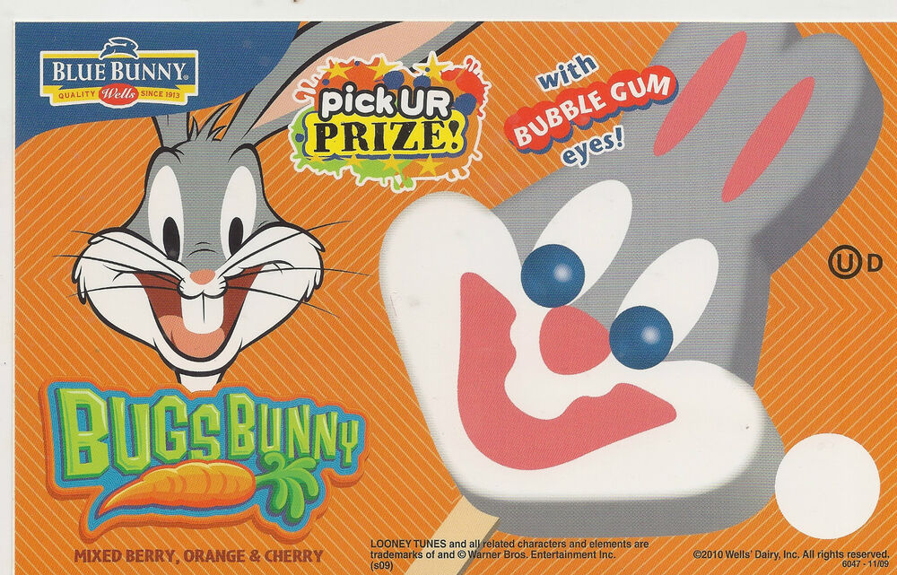 Bugs Bunny With Bubble Gum Eyes Collectible Ice Cream