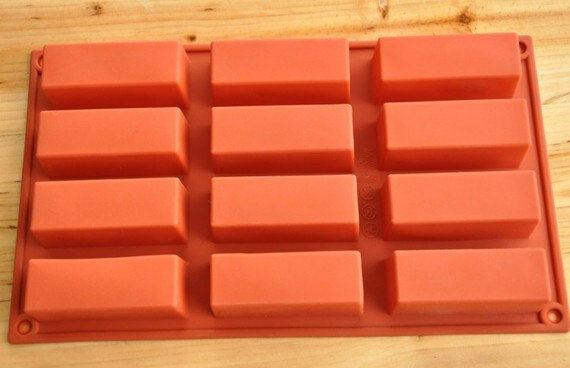 Cake Mold Soap Mold 12 Rectangle Mold Silicone Mould For