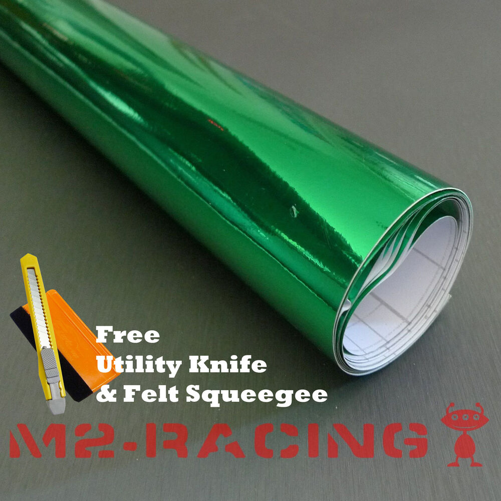 60 x120 green chrome mirror vinyl wrap sticker decal for Mirror 120 x 60