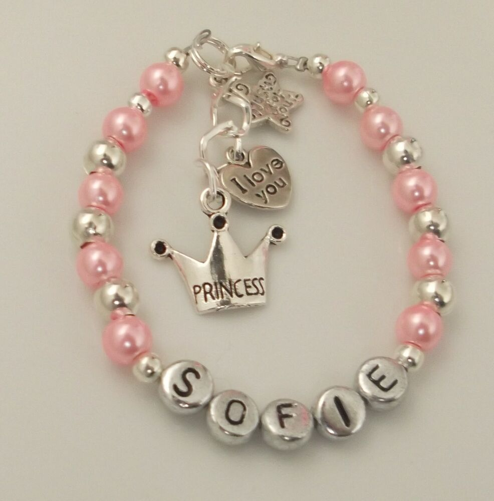 personalised you god niece baby charm