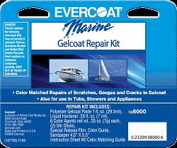evercoat seacare gelcoat repair kit fiberglass boat bathtub countertop