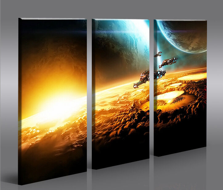 space wars v2 3 bilder star xxl auf leinwand wandbild poster ebay. Black Bedroom Furniture Sets. Home Design Ideas
