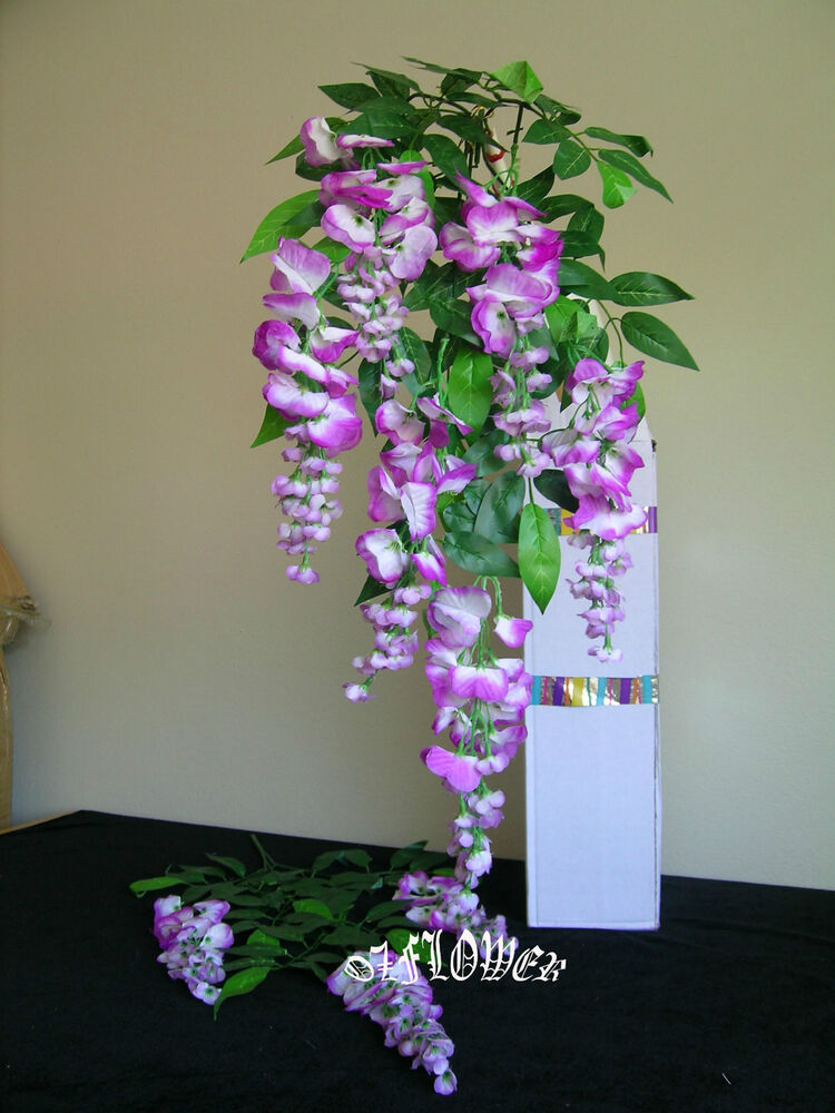 artificial plants flowers wedding flower wisteria spray f55 ebay. Black Bedroom Furniture Sets. Home Design Ideas