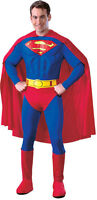 Muscle Chest Deluxe SUPERMAN Fancy Dress Costume - Mens Large Superhero