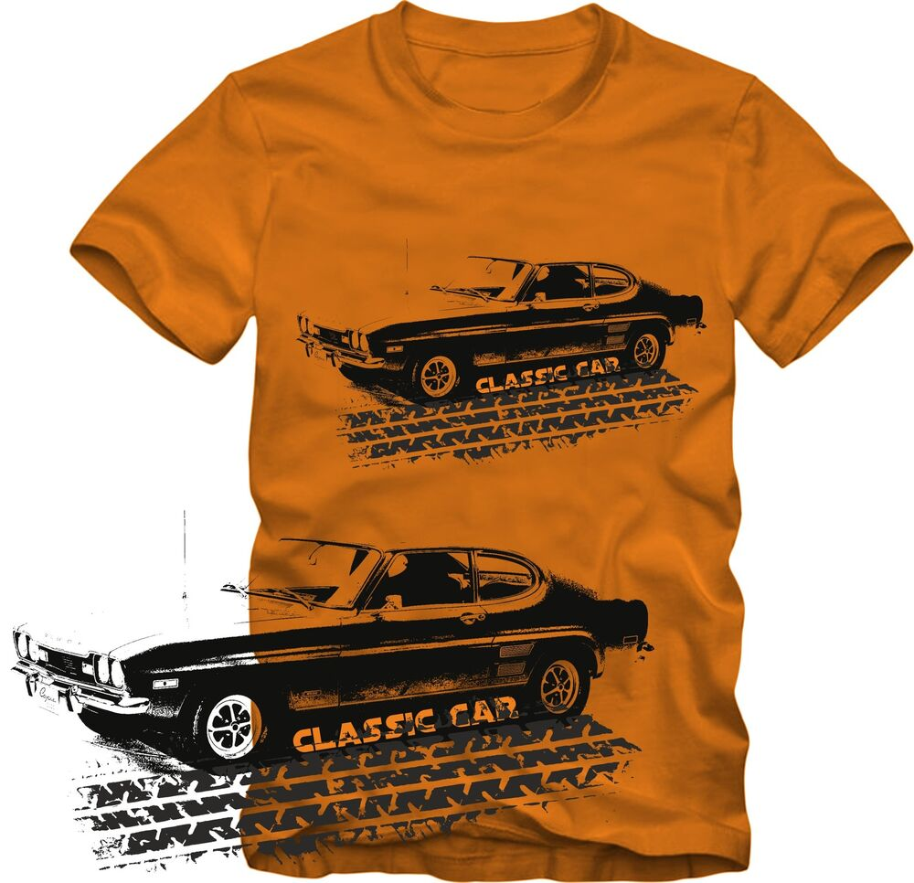 T Shirt Ford Capri Classic Car T Shirt Ford Retro Style S