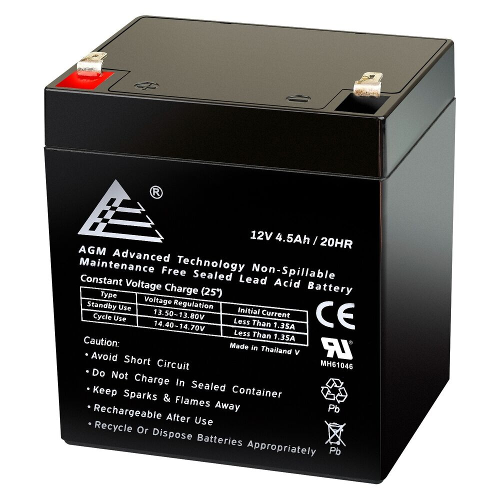 12v 4 5ah sealed lead acid sla battery for apc ups. Black Bedroom Furniture Sets. Home Design Ideas