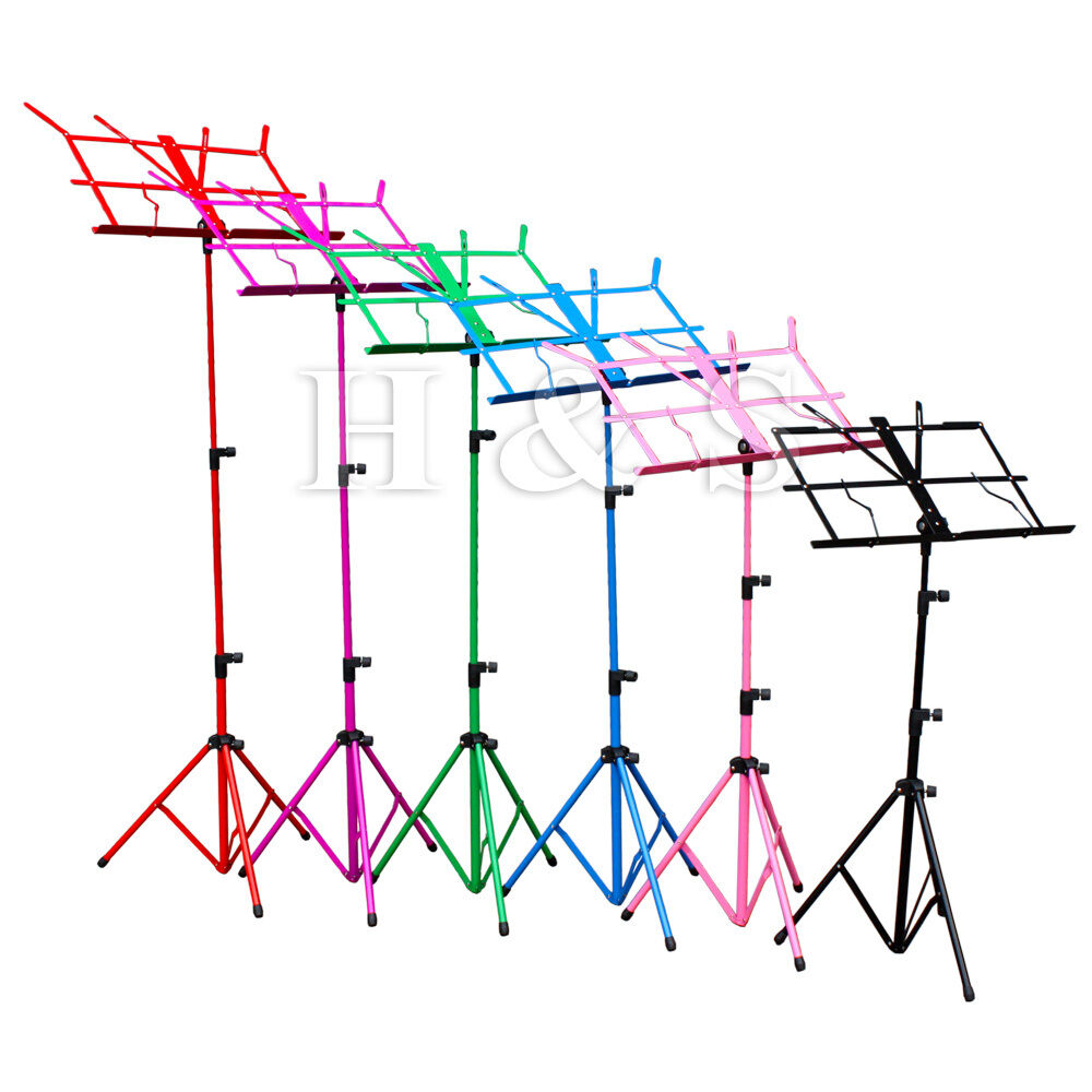 top quality metal folding sheet music stand holder tripod base foldable case c ebay. Black Bedroom Furniture Sets. Home Design Ideas