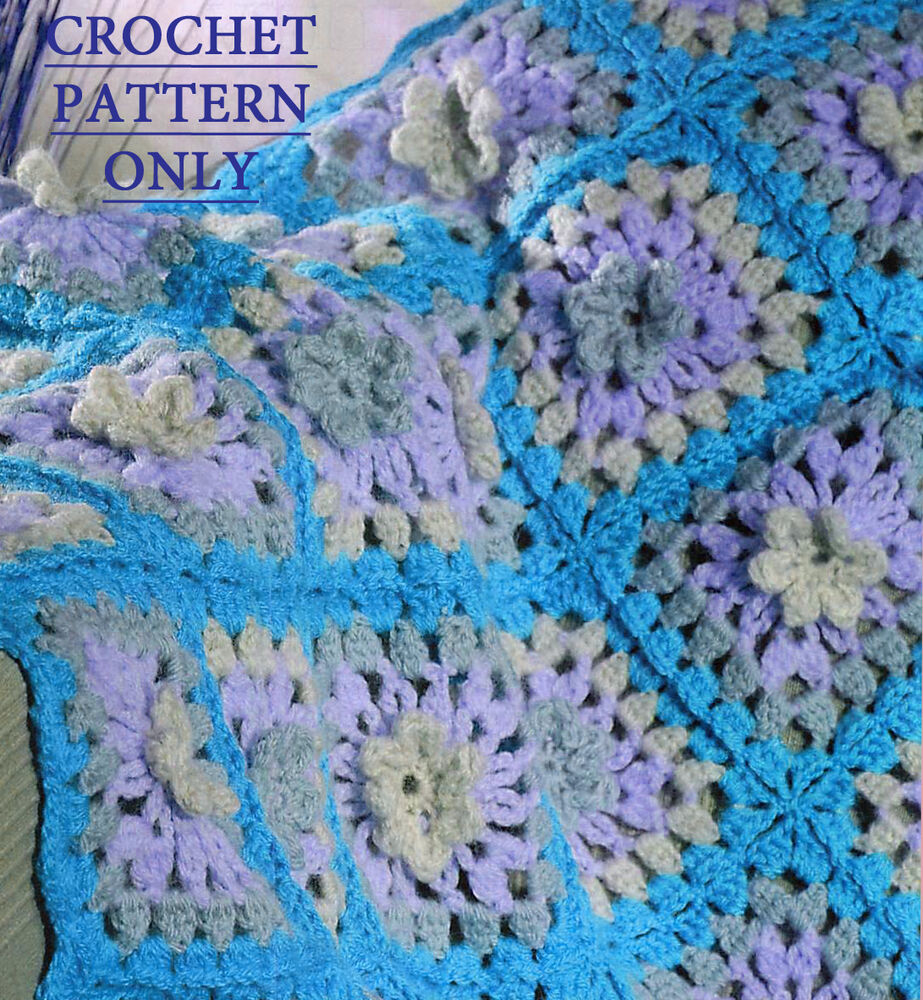 Vintage crochet pattern-how to make a pretty & easy flower ...