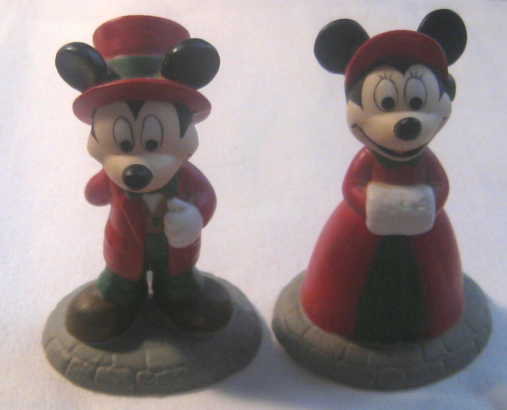 Retired 1996 dept 56 mickey minnie mouse miniature disney figurines ebay - Minni et mickey ...