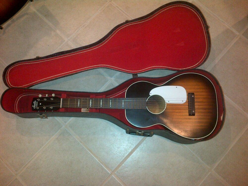 Vintage Stella Harmony Acoustic Guitar 3 4 Child Size