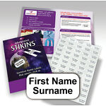 STIKINS® Name Labels NO NEED TO IRON ON/SEW, Stick In School Clothing Tapes Tags