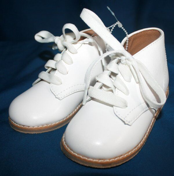 new baby 5 5 wide white leather baptism christening formal