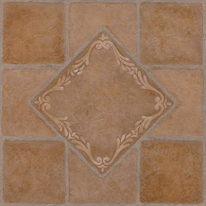 Southwest Ceramic Terracotta Self Stick Vinyl Floor Tiles