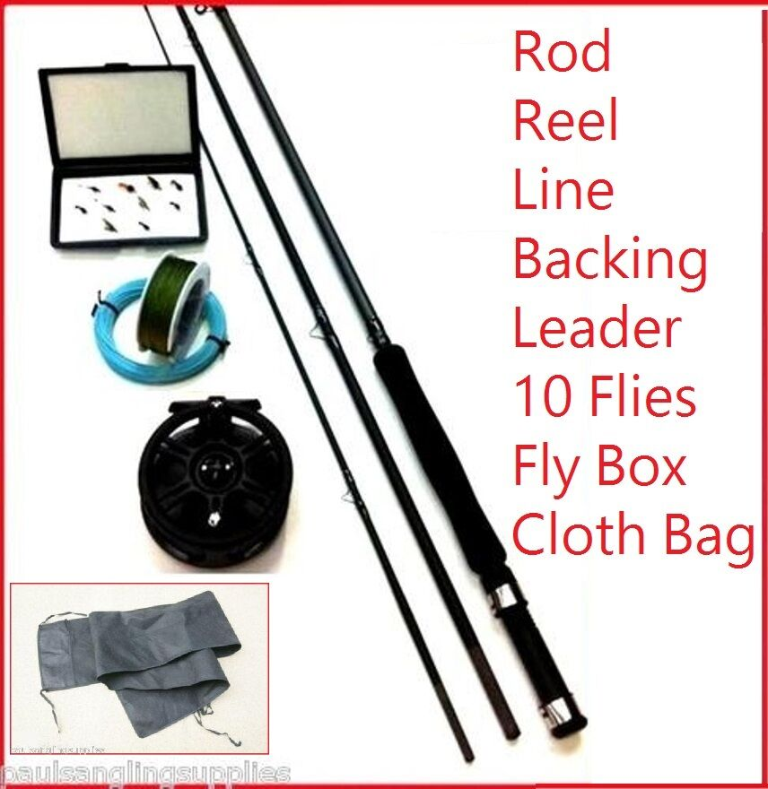 Fly fishing kit rod carbo float sink or int line reel for Fly fishing backing