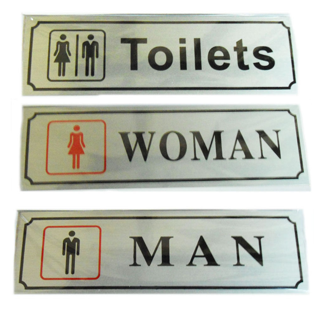 Toilet Door Sign Office Business Shop Signs Self Adhesive
