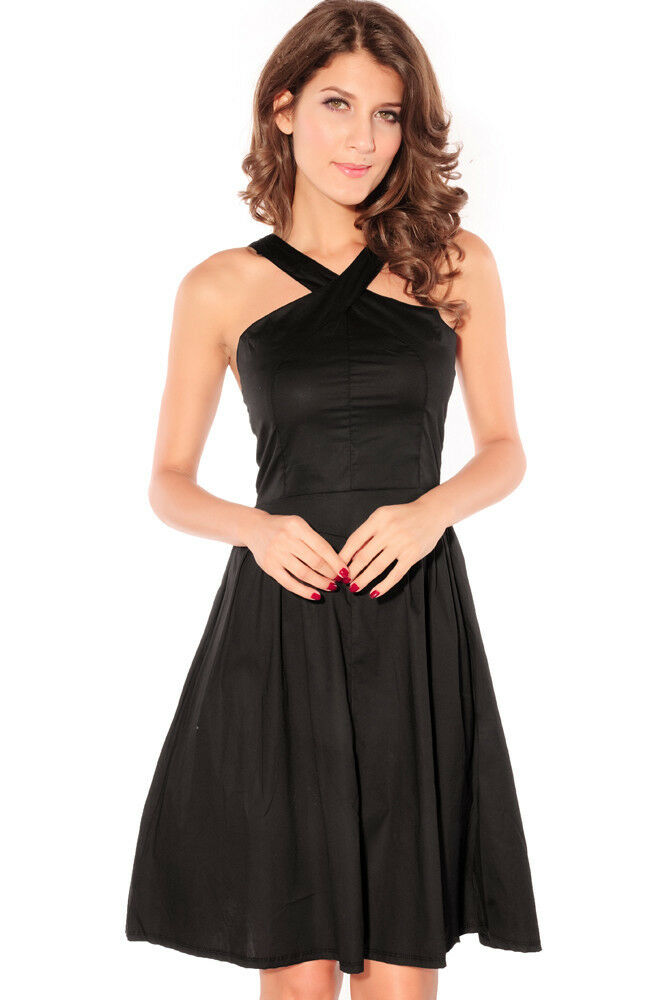 halter cocktail dress…