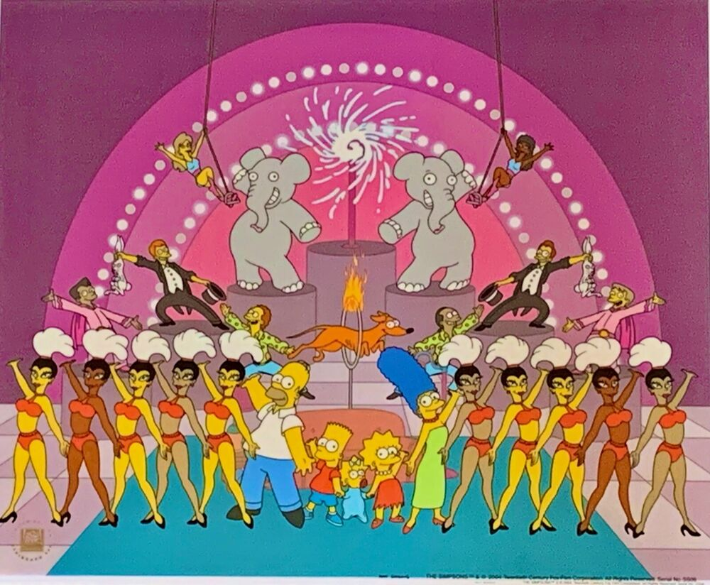 The Viva Simpsons Circus Animation Sericel Cel 20th