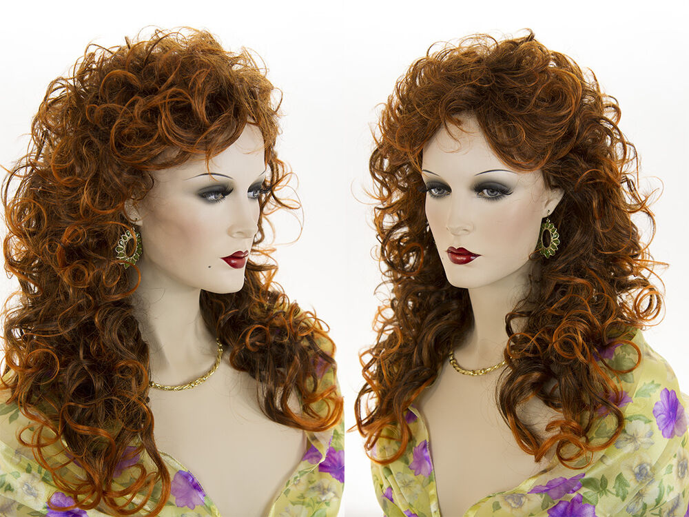 Glamorous 22 In Long Curly Wavy Gypsy Shag Style Blonde