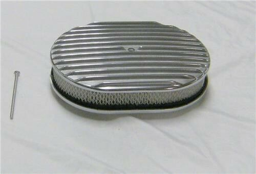 Street Rod Air Cleaners : Quot street rod polished aluminum finned heavy duty