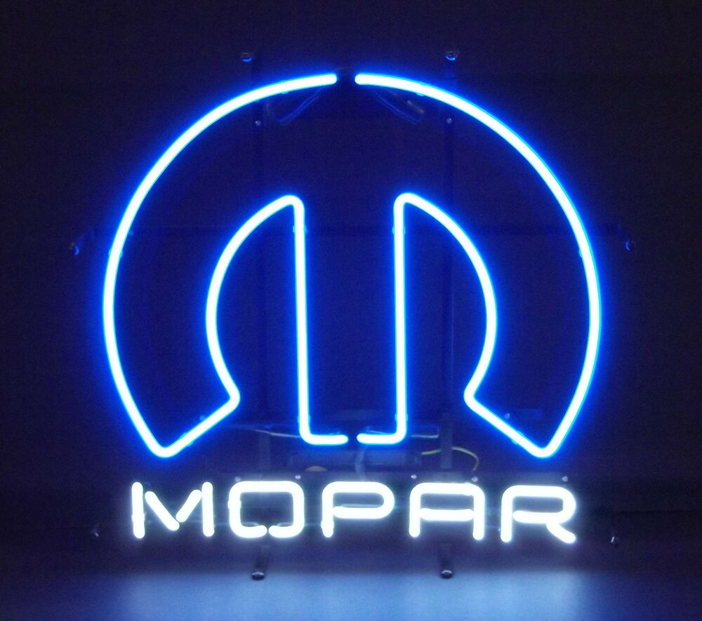 Neon Sign Mopar Omega M Chrysler Plymouth Muscle Car