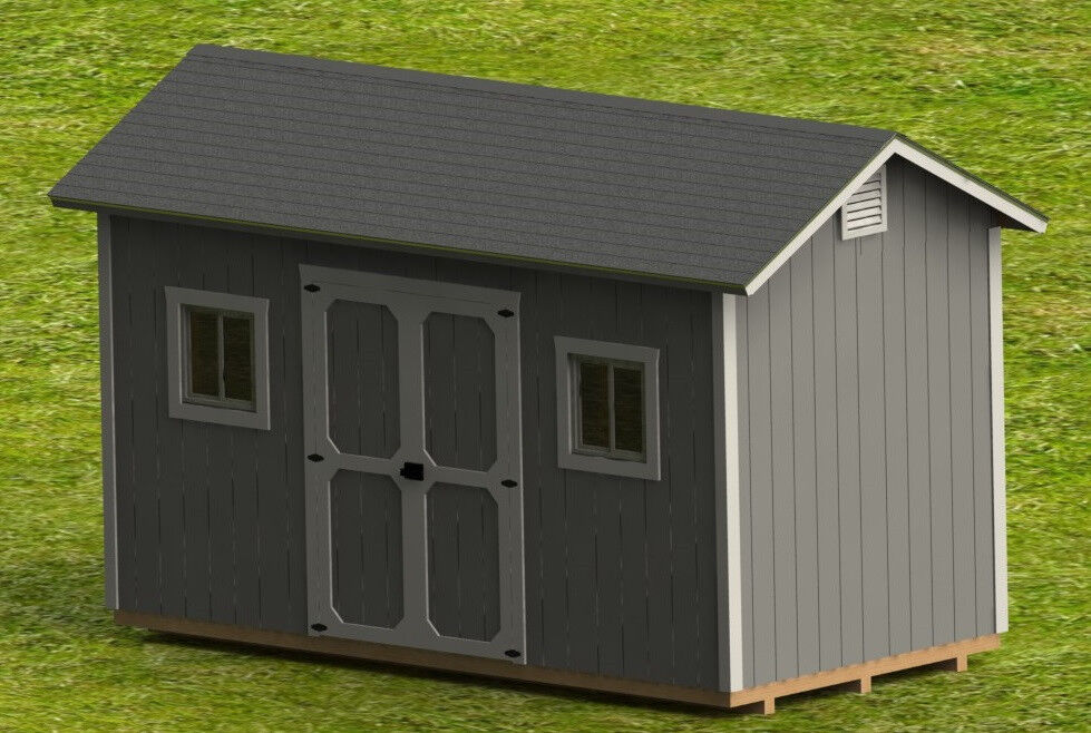 8 39 X 16 39 Garden Shed Detailed Building Plans Diy Plans