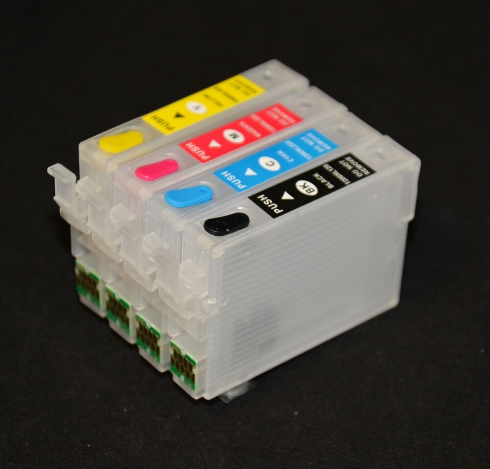 empty refillable ink cartridge for epson workforce wf 2510 wf 2530 cis t200 xl ebay. Black Bedroom Furniture Sets. Home Design Ideas