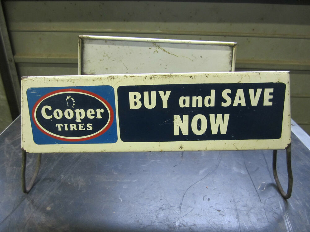 Arco Gas Station >> Vintage COOPER TIRES Store Display Sign - double signs Auto Gas Oil advertising | eBay
