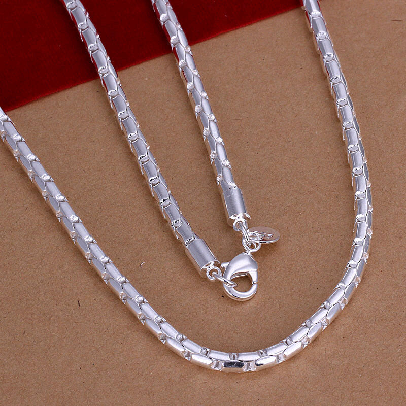 Wholesale Sterling Solid Silver Fashion 4mm Chain Necklace