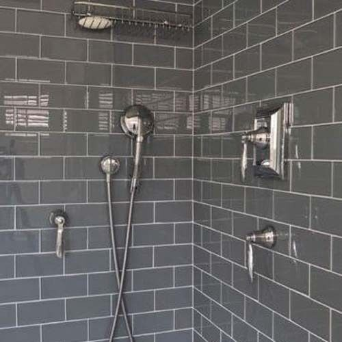 10 X 20 Gloss Dark Grey Brick Metro Ceramic Wall Tiles 100