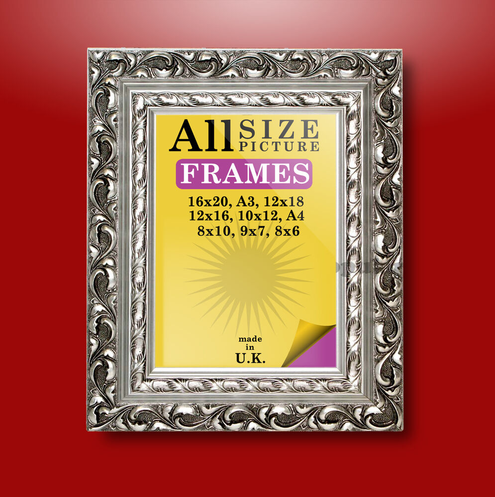 Silver ornate antique style picture photo frames new ebay for Small vintage style picture frames