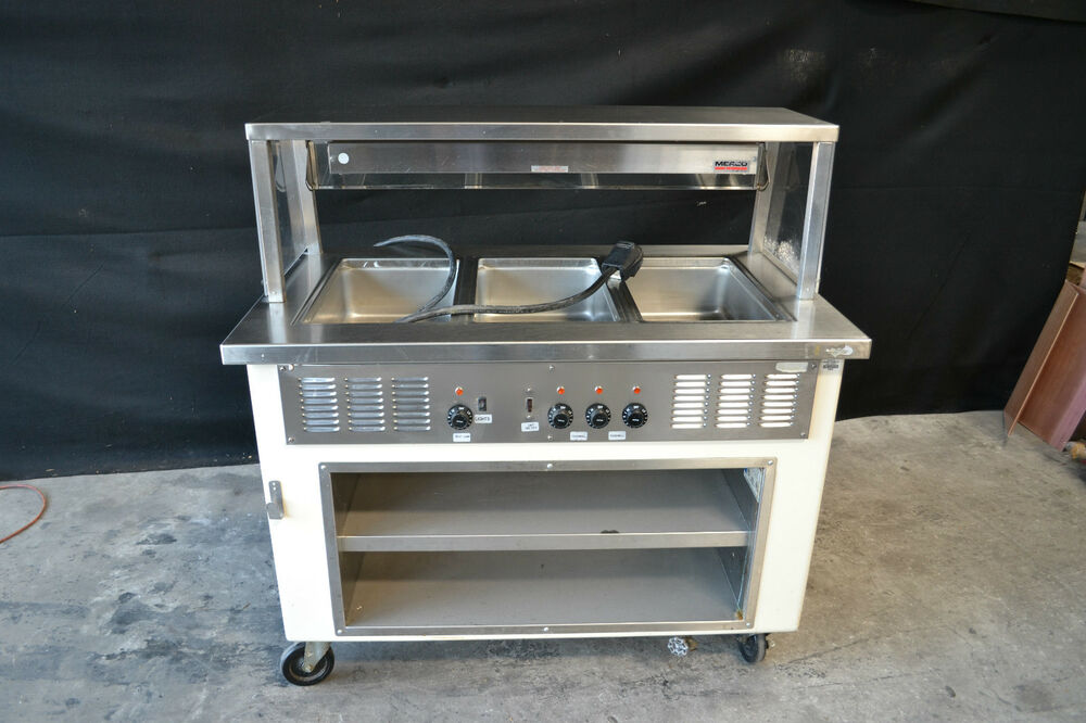Shelleyglas Hot Food Serving Counter Steam Table 3