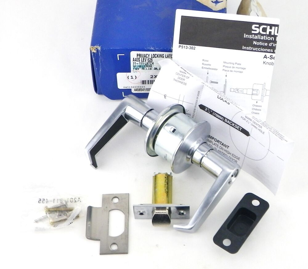 Ir Schlage Satin Chrome Door Handle Lever Lockset Locking