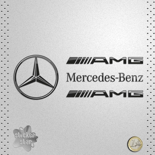 sticker mercedes benz amg star adhesive vinyl autocollant. Black Bedroom Furniture Sets. Home Design Ideas